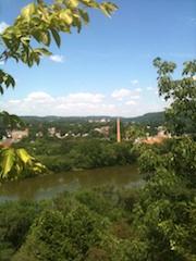 A View of Beaver Falls, PA