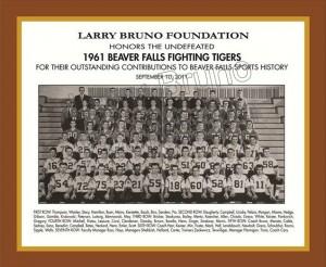 1961 Beaver Falls Football Team Plaque 2011