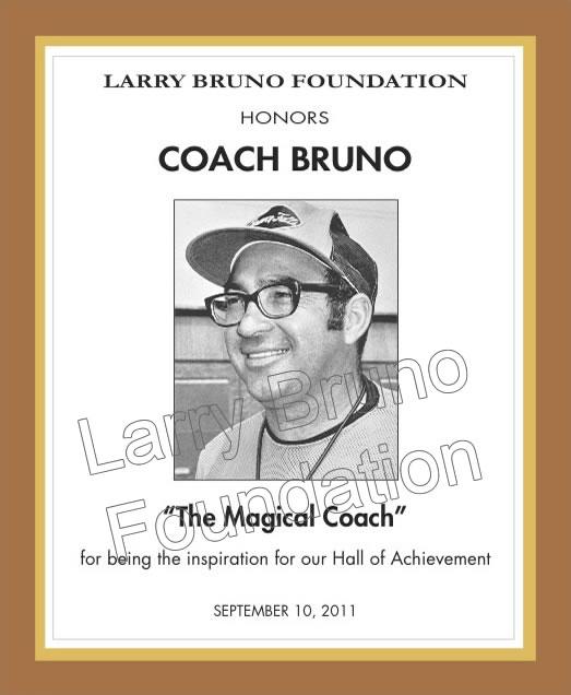 COACH BRUNO Plaque 2011