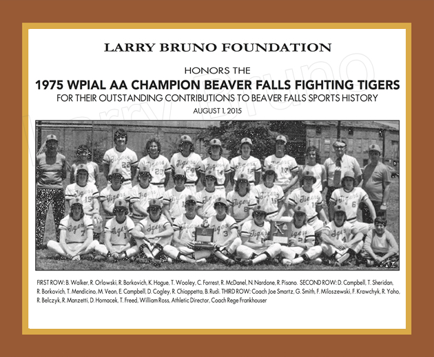 1975 Beaver Falls Boys Baseball