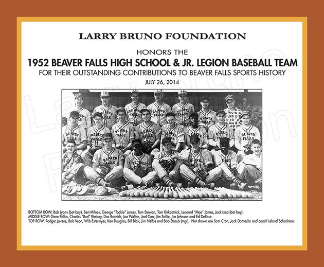 1952 Beaver Falls Baseball Team