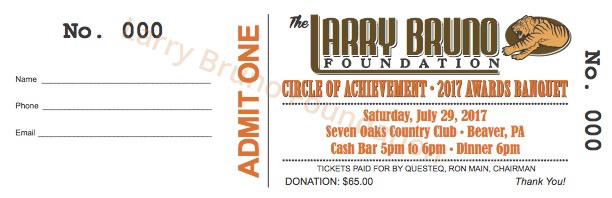Larry Bruno Foundation Banquet Ticket 2017
