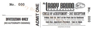 Larry Bruno Foundation Reception Ticket 2017